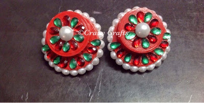 Quilled handmade earrings