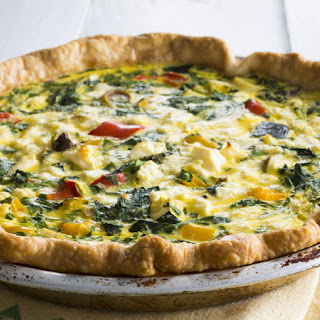 Greek Vegetable Quiche.