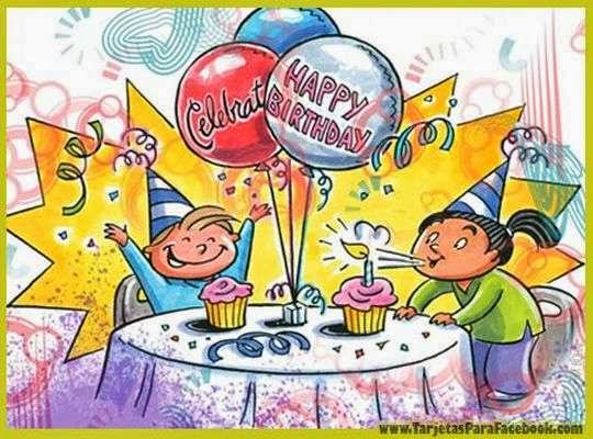 Tarjetas personalizadas para fiesta de niños