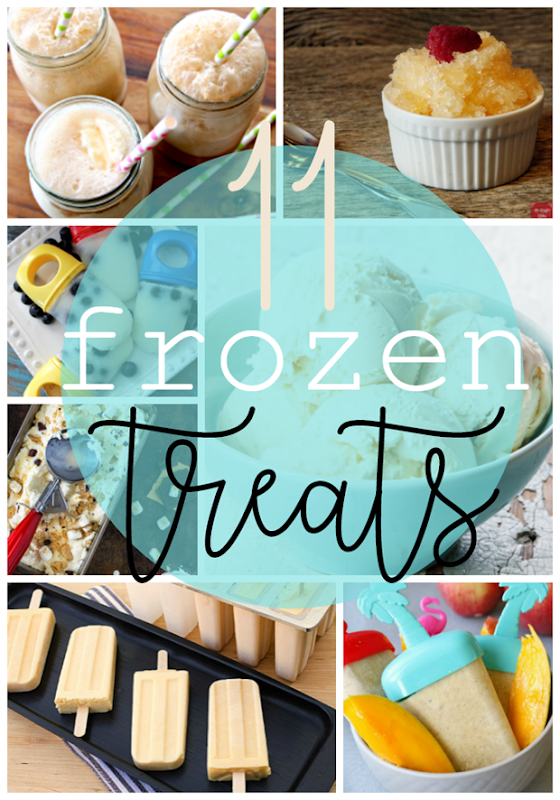 11 Frozen Treats at GingerSnapCrafts.com #dessert #icecream #recipes