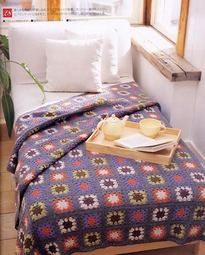 Örgü yatak örtüsü modeli orgu battaniyeler