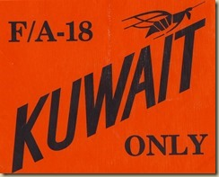 FA-18 Kuwait Only sticker