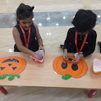 Halloween Carnival Celebrated by Sr Kg Section at Witty World, Chikoowadi (2017-18)