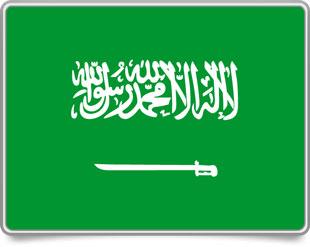 Saudi Arabian framed flag icons with box shadow
