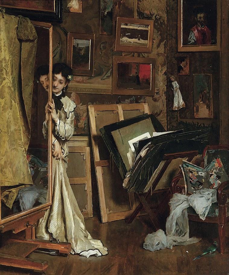 Alfred Stevens - Mon Atelier