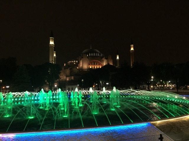 Hagia Sophia night time