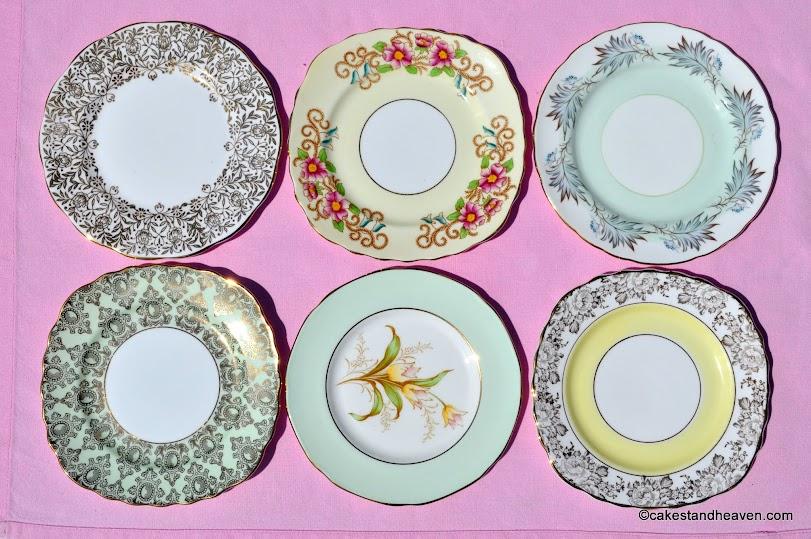 Mismatched tea set tea plates