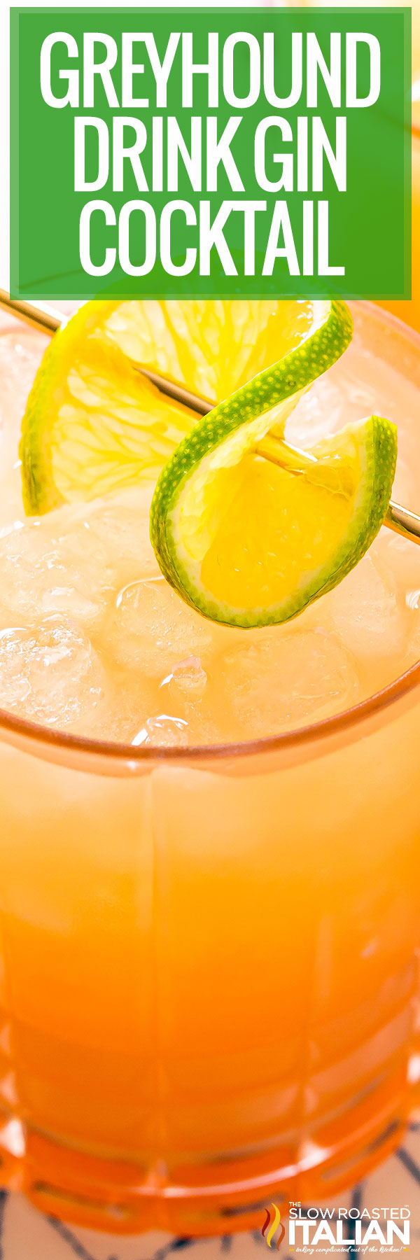 Greyhound Drink (Gin Cocktail) closeup