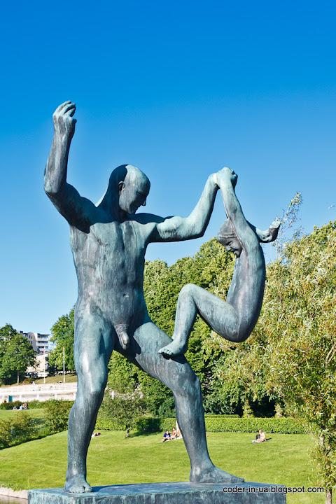 парк вигеланд.осло.норвегия