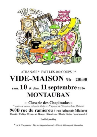 tag on line vide maison in september in montauban. Black Bedroom Furniture Sets. Home Design Ideas