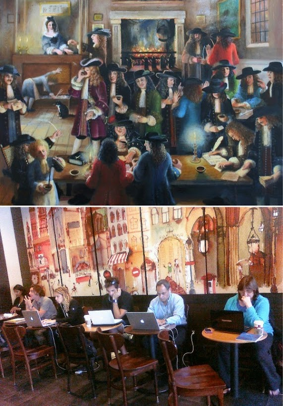 Coffee Houses in 1650 and today