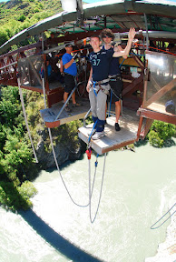 Ready to jump off of Kawaru bridge