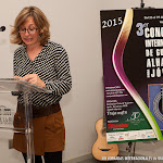 34: Pilar Gisbert, Customer Relations de Alhambra, felicitó a todos los participantes del concurso pues con premio o sin él, por el esfuerzo realizado, por el camino recorrido para llegar hasta aquí, por el arte que habían demostrado... todos habían ganado.