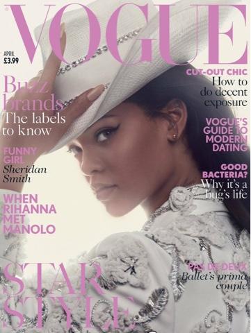 Rihanna in Spring 2016 Alexander McQueen, Christian Dior British VOGUE