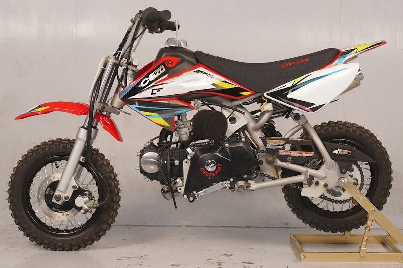 70cc Moto21 CF 70 Semi Auto Dirt Bike Red