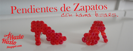 Cómo hacer pendientes de zapatos con hamma beads.