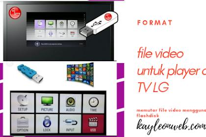 Memutar file video di TV LG
