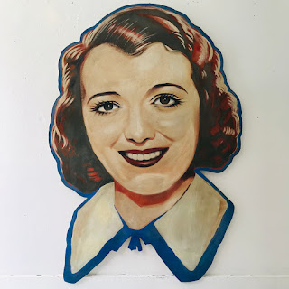 Janet Gaynor 1930s Hand-Painted Movie Marquee