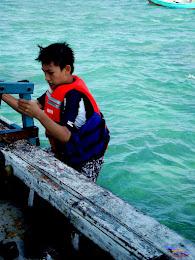 family trip pulau pari 140716 Fuji 081