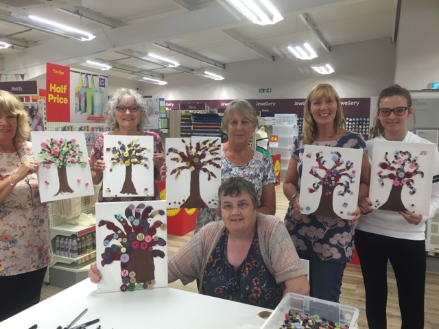 Sooz in the shed button tree art canvas if you fancy doing a class with me i will be running this workshop in brampton community centre on friday 11th november 2016 shout out for more details solutioingenieria Images