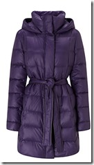 Boss Orange Quilted Coat in Purple