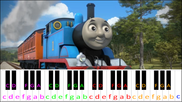 Thomas The Tank Engine Theme ~ Piano Letter Notes