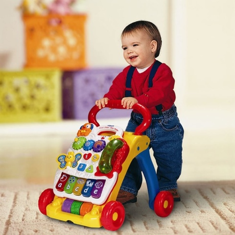 Xe tập đi màu đỏ First Steps Baby Walker Vtech