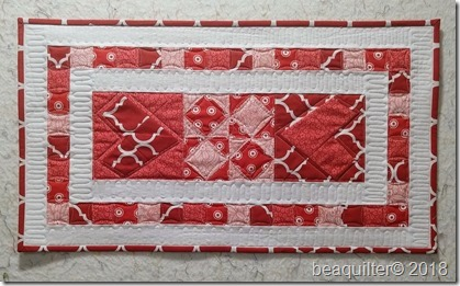 heart table runner accuquilt