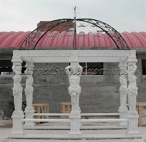 Dome, Exterior, Gazebo, Gazebos, Ideas, Landscape Decor, Statue