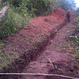 The ditch for the pipe