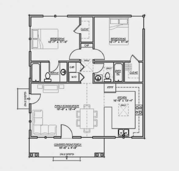 gambar denah rumah sederhana gallery taman minimalis