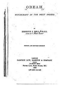 Cover of Hesketh Bell's Book Obeah Witchcraft in the West Indies