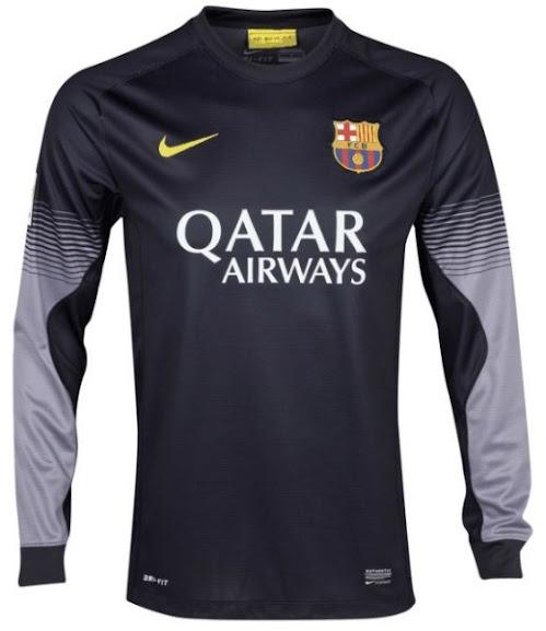 Jersey Kiper Barcelona Hitam Lengan Panjang