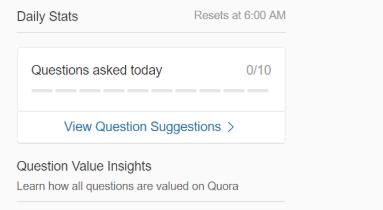 Quora-partner-program-Daily-Goals
