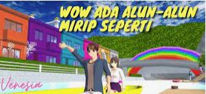 ID Alun-Alun Kota Sakura Di Sakura School Simulator