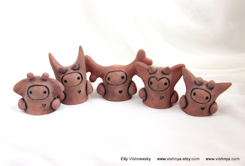 Hand Made Ceramic and pottery Eco-Friendly Home Decor by Elly Vishnevsky.