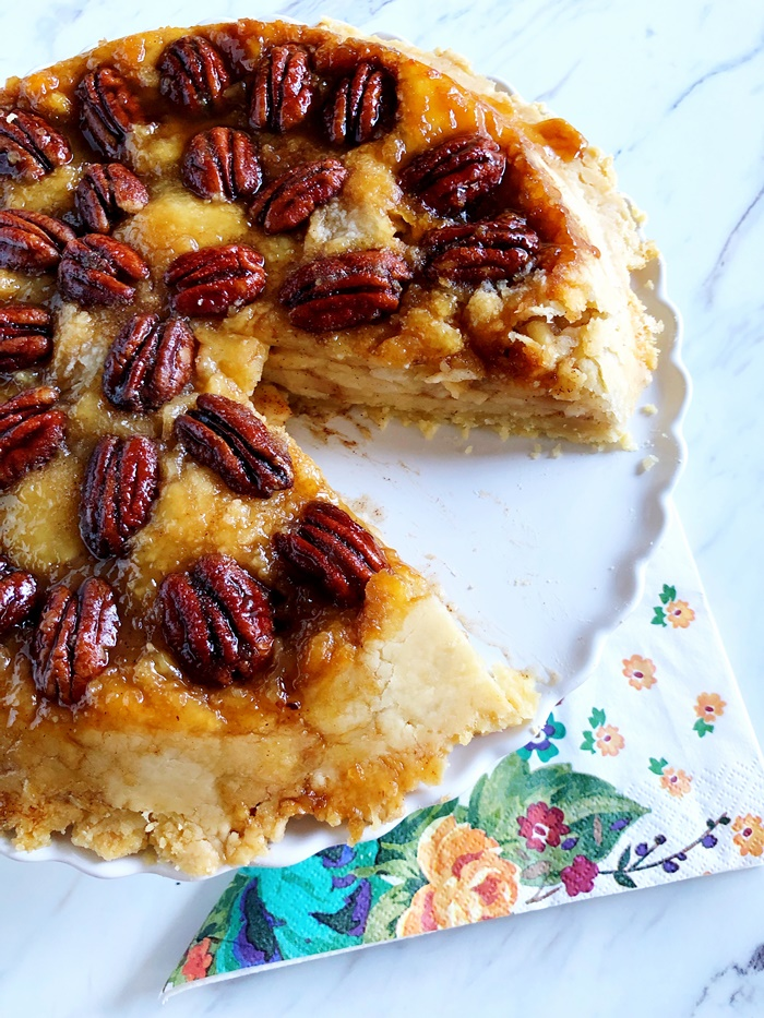 Dad's Upside-Down Apple Pecan Pie