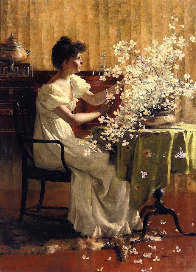 Francis Coates Jones - Woman Arranging Flowers