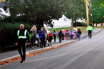Officers participated in the annual Walk to School Day event with Mt. Lebanon and Hanover Street School students, parents and staff.