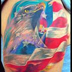 eua flag arm - Eagle Tattoo