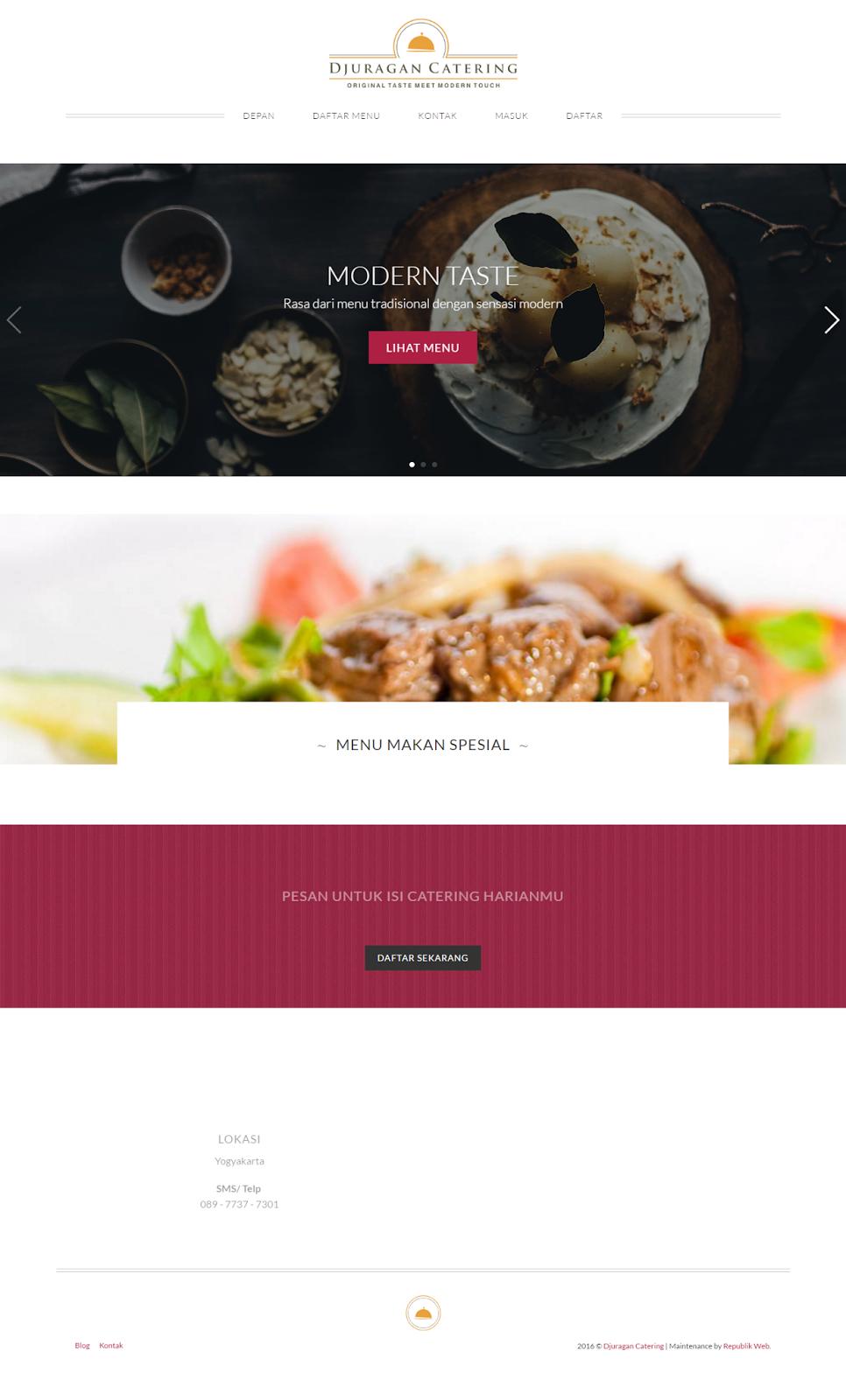 web djuragan catering pesan masakan favorit