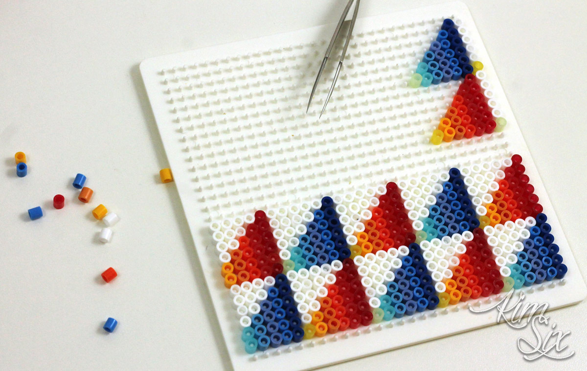 Creating hot and cold pearler bead pattern
