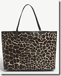 Mystyque Hair and Leather Animal Print Tote