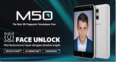 Evercoss M50, Smartphone 4G Face Unlock & Fingerprint Sensor Termurah