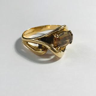 14K Gold and Smoky Quartz Ring