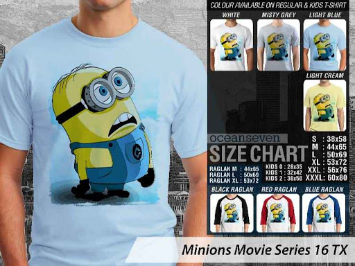 Kaos Kartun Minions Movie Series 16 distro ocean seven