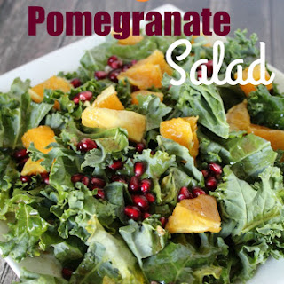 Kale, Pomegranate and Tangerine Salad - the perfect lunch after my walk