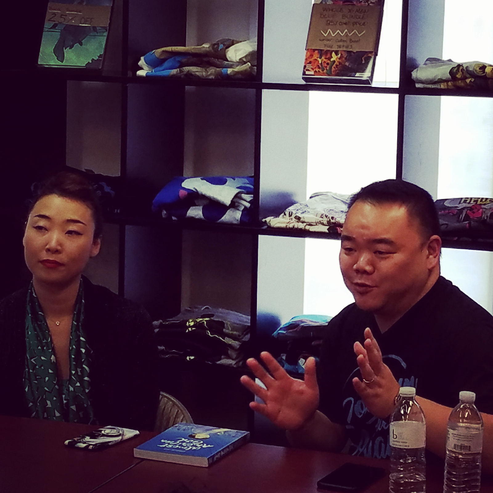 Robin Ha is at Fantom Comics with Keith Chow