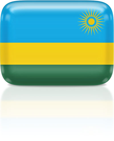 Rwandan flag clipart rectangular