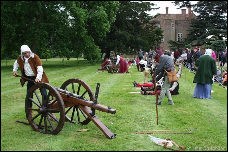 Gunnery display at the Lullingstone Castle medieval weekend